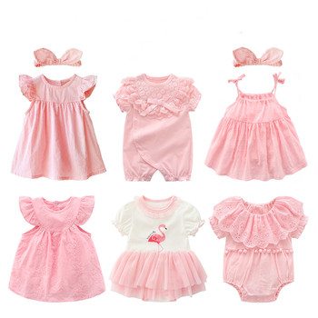 new born baby girl clothes&dresses summer pink princess little girls clothing sets for birthday party 0 3 months robe bebe fille 2