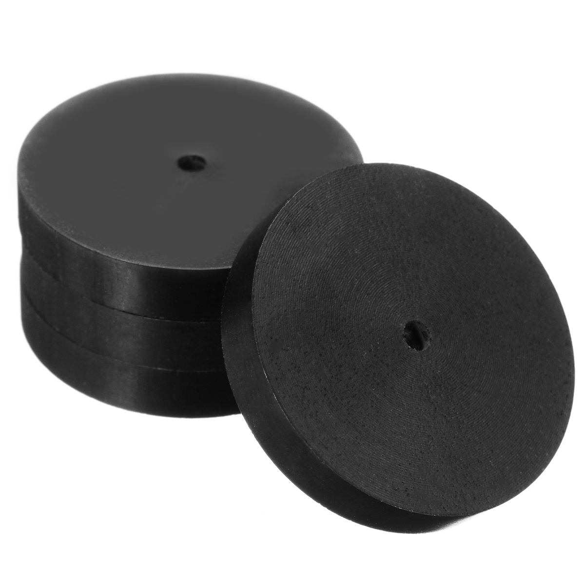 Newest 4pcs 23mm Ebony Speaker Isolation Spike Wooden Copper Stand Feet+Base Pad+Adhesive Tape For Audio Amplifier Speaker