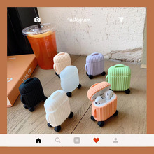 7 Color Suitcase Shape Keychain silcone protect bag for Apple Airpods Accessories Bluetooth Earphone Cover Case
