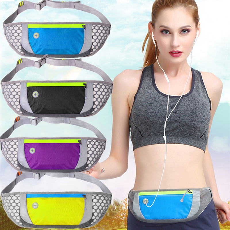 Waist Purse Sugar Skull and Roses Retro Style Unisex Outdoor Sports Pouch Fitness Runners Waist Bags