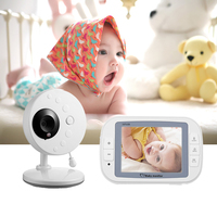FLOUREON video baby camera 2.4GHz Wireless TFT LCD Video Baby Monitor with battery Night Vision 2 way Talk