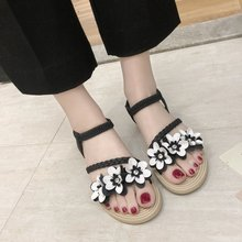 купить Casual Shoes for Women Summer Outdoor Flower Flat Sandals Open Toe Slippers Beach Shoes Flip Flops Comfortable Slippers по цене 1001.82 рублей