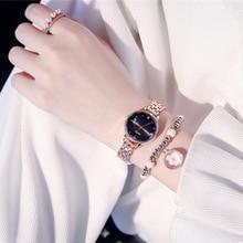 Qualities Women Fashion Watches 2019 Luxury Rose Gold Metal