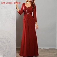 Mother of The Bride Dresses With Sleeves Plus Size Women Evening Party Mother Bride Groom Formal Gowns Wedding Bride Dress
