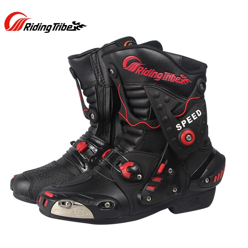 2016 New Riding Tribe SPEED Motorcycle Boots Microfiber Leather Motorbike Racing Boots Motocross Boots Shoes riding tribe motorcycle waterproof boots pu leather rain botas racing professional speed racing botte motorcross motorbike boots