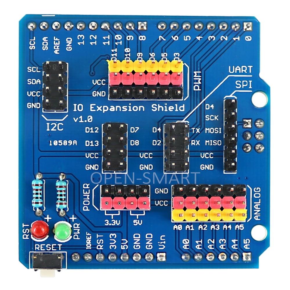 Sensor Shield IO Shield IO Board Base Shield Sensor Expansion Board Compatible With Arduino UNO / Leonardo / Mega2560