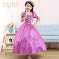 Kids Clothes Girl Princess Sofia Dress Cosplay Costume for Party Festival Girls Summer Dresses 2016 Sale Include Oversleeve