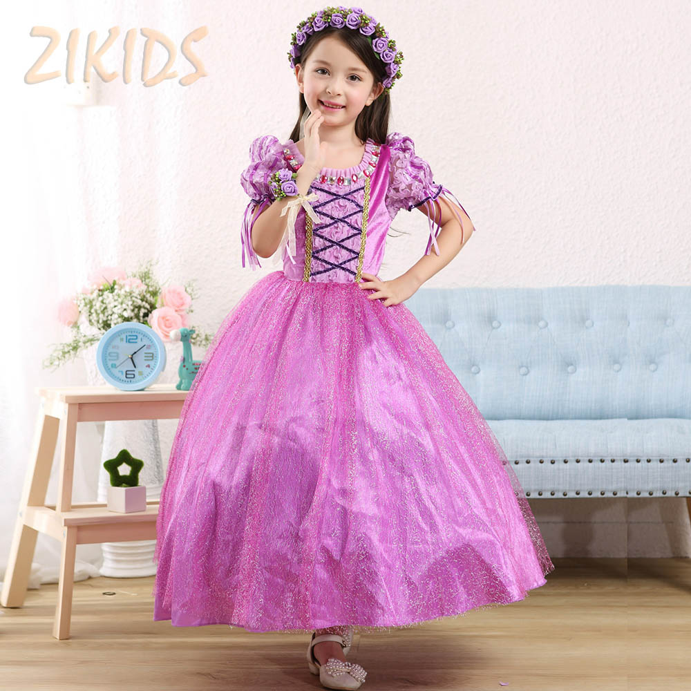 Kids Clothes Girl Princess Sofia Dress Cosplay Costume for Party Festival Girls Summer Dresses 2017 Sale Include Oversleeve