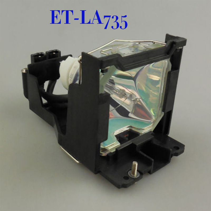 Free Shipping Brand New Projector Lamps with housing  ET-LA735 for PANASONIC PT-L735U /PT-L735NTU /PT-L735 /PT-L735NT /PT-L735E original projector lamp et lab80 for pt lb75 pt lb75nt pt lb80 pt lw80nt pt lb75ntu pt lb75u pt lb80u