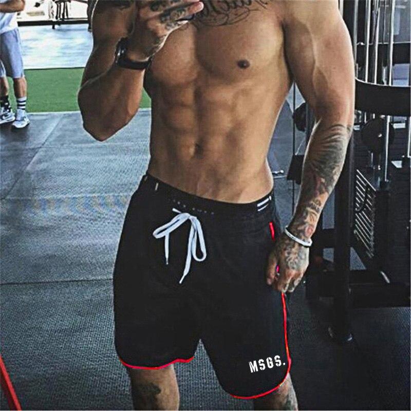 2020 Summer Brand Fitness Shorts Men Knee Length Bodybuilding Bermuda Cargo Active Shorts Joggers Gyms Workout Sweat Short Pants