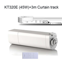 Eruiklink Dooya Sunflower KT320E Electric Curtain Motors 45W 220V 50mhz With Remote DC2700 3M Customizable Curtain