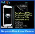 100 unids 2.5d vidrio templado protector de pantalla de cristal para iphone 7 plus película protectora para el iphone 6 plus 5s 4s sí por dhl