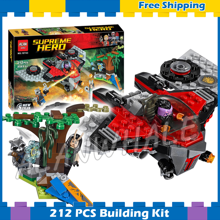 212pcs Super Heroes Guardians of the Galaxy Ravager Attack M-ship 10743 Model Building Blocks Gifts Sets Compatible With lego