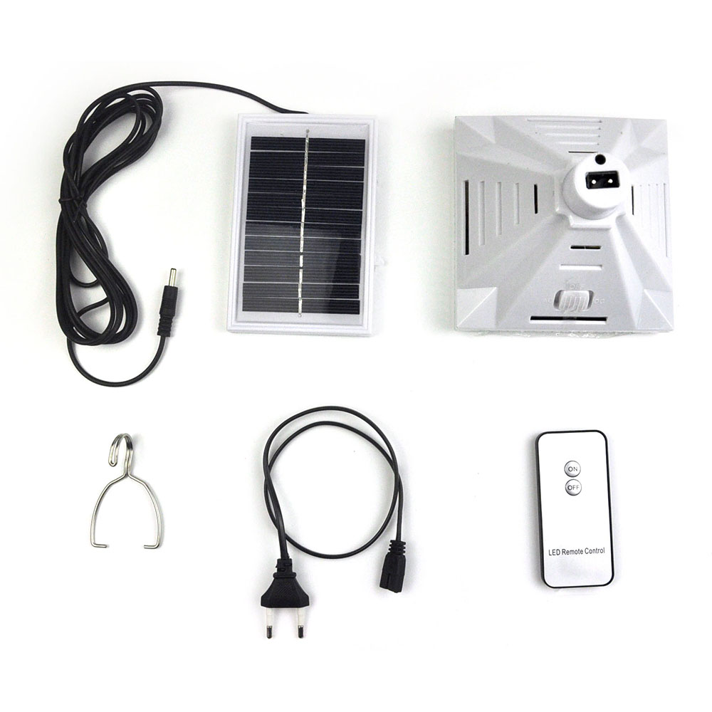 ФОТО 1X Remote Led Solar light Outdoor Camping Lights 25LED Garden Hanging Lamps Solar led Spotlight with Hook  Emergency Solar Lamps