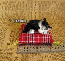 mini cute simulation cat toy polyethylene & furs small black cat doll car decorations gift doll about 9x4x4cm