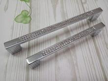 купить 3.75''5'' Modern Style Cabinet Handles Crystal Drawer Pulls Handles Knobs Glass Dresser Hanldes Chrome Silver Kitchen Pulls по цене 358.22 рублей