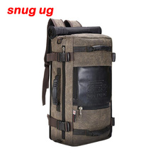 SNUGUG Brand Large Capacity Men Travel Bag out Mountaineering Backpack Canvas Bucket Shoulder Bags Male High Quality Backpacks
