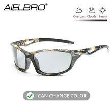 Мужские поляризационные Квадратные Солнцезащитные очки походные