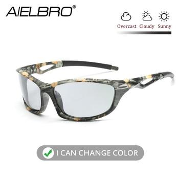 men Polarized Square sunglasses Hiking Cycling Glasses Photochromic Eyewear UV400 Men Women Fishing Running