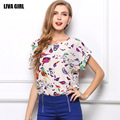 fashion Summer women clothing chiffon blouse high quality Chiffon roupas Loose Bat costume camisa das mulheres free shipping