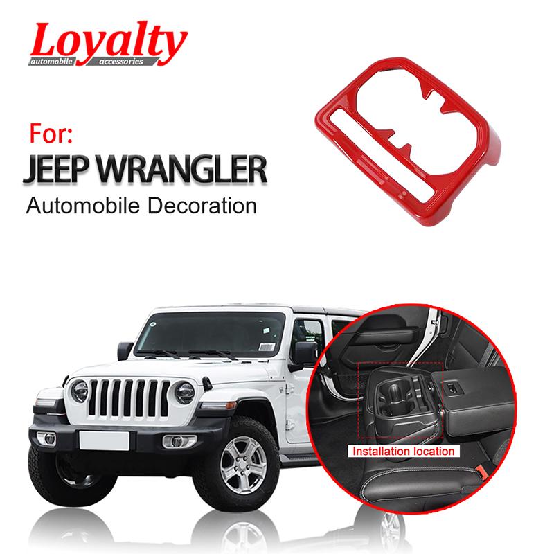 Areyourshop Interior Car Rear Seat Water Cup Holder For J-e-e-p Wrangler JL Gladiator JT 2018+