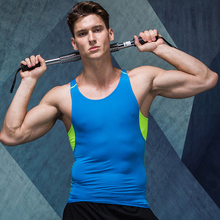 Athletics Quick-Drying Vest Sporting Stretch Gyms Bodybuilding Tank Top Fitness Men's Casual Sleeveless T Shirts Running Vest