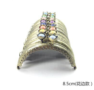 20шт/10 шт 8,5 см сумка в форме головы лотоса, застежка в виде поцелуя, светильник с золотым полукольцом, металлическая рамка для кошелька, аксессуары для шитья - Цвет: Антикварная бронза