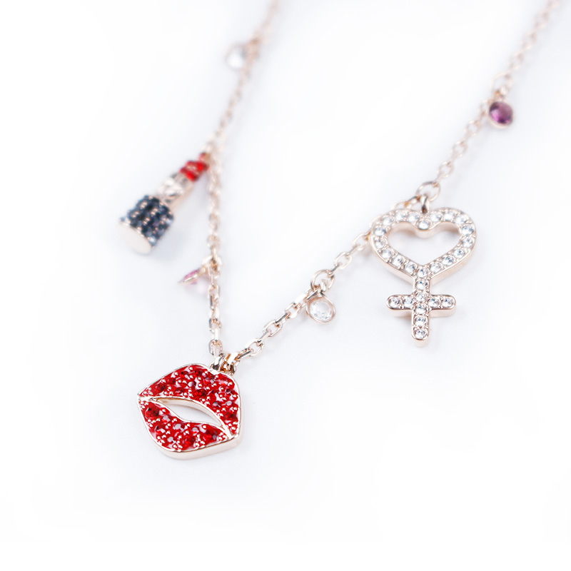 High quality SWA original SWA model 1 1 produces the longest edition Lipstick women 39 s necklace in Pendant Necklaces from Jewelry amp Accessories