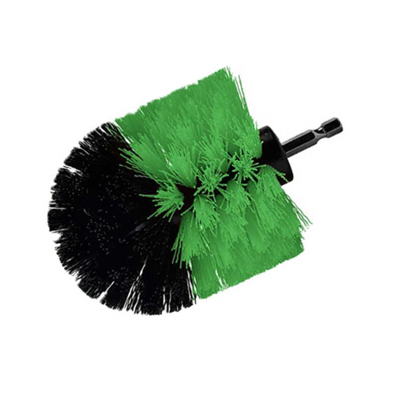 Brocha eléctrica para limpieza de suelo de 3,5 pulgadas, herramienta eléctrica para eliminar manchas persistentes en piedra, azulejo cerámico de color verde
