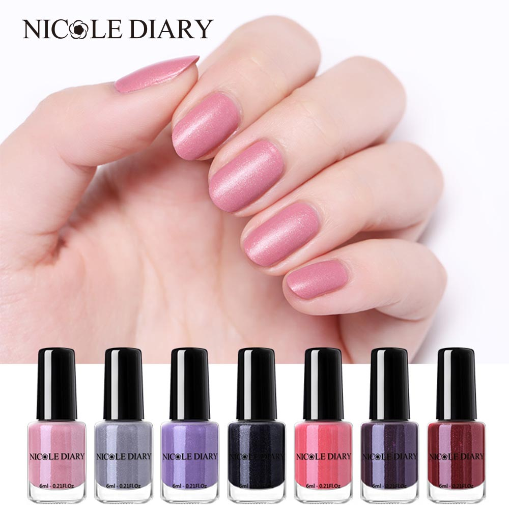 The Nail Art And Beauty Diaries: NICOLE DIARY Matte Peel Off Nail Polish 6ml Shimmer Pearl