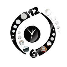 Unique Home Decorationm Mirror Effect Camber Dot Wall Clock Modern Design Geometric Wall Hours Wall Sticker Watch Home Ornament dg home диван camber sofa