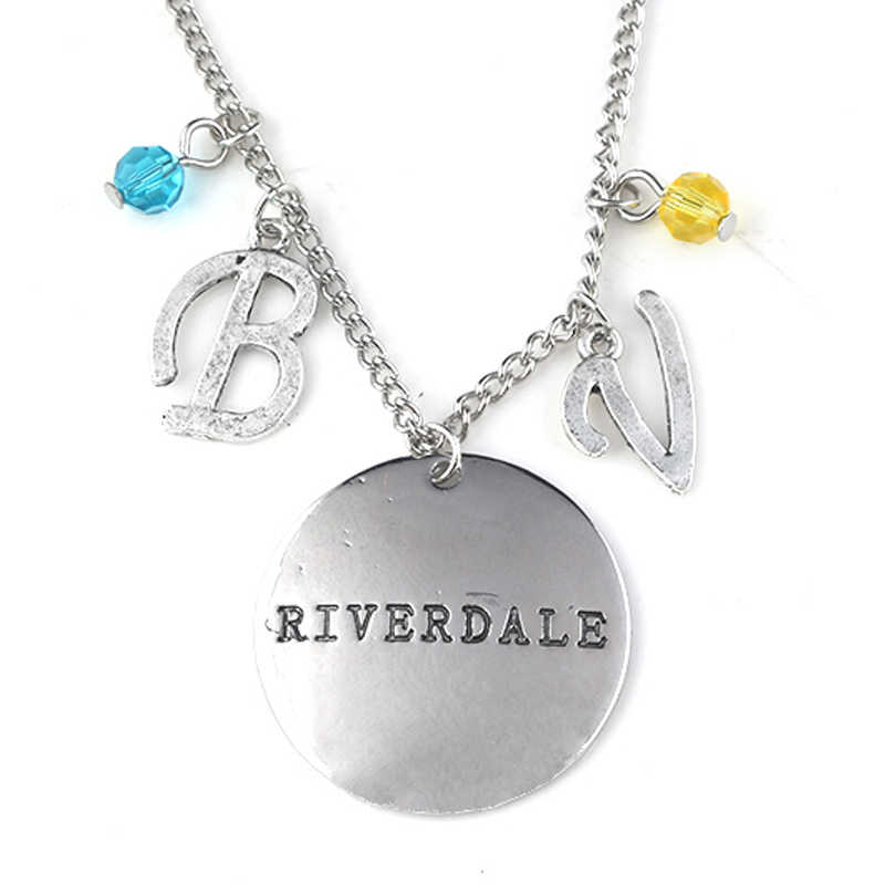 RJ New Riverdale Letter Music Note Logo Necklaces Pendants High Quality Silver Stranger Things Ladys Girls Choker Christmas Gift