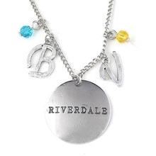 RJ New Riverdale Letter Music Note Logo Necklaces Pendants High Quality Silver Stranger Things Ladys Girls Choker Christmas Gift(China)