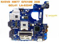 Original for ASUS K45VD laptop motherboard K45VD HM77 GF610M 2GB QCL41 LA 8224P tested good free shipping