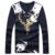 2016 nova camiseta de algodão tshirt homme homme por muito tempo sleeved camiseta v pescoço T-shirt impressão t shirt homens camisetas hombre