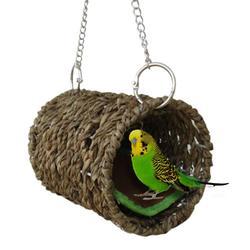 Nowe gniazdo dla papugi hamak wiszące klatka dla ptaków ciepłe zimowe klatka dla ptaków zabawki do łóżeczka chomik dom klatka dla papugi ozdoba ozdoba