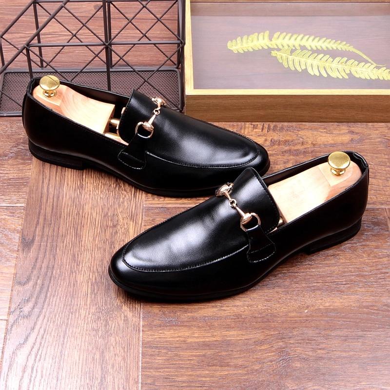 6c34140a32668 Mocassins Plat Hommes Talon Nouveau Coréen Bateaux Chaussures Hq7Er1Hw