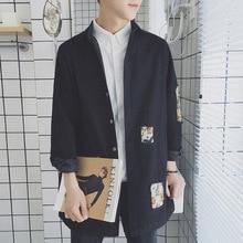 Yeni Geldi Ceketler mens iş elbisesi Yumuşak gömlek Marka moda Ceket Uzun kollu Slim Fit Iş Retro delikli Yama Gömlek 2XL