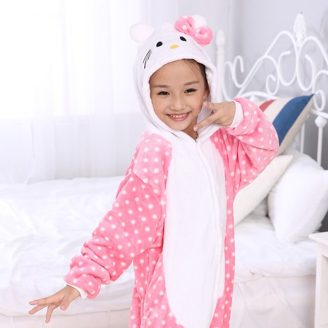 Hot Cute Anime Pink Hello Kitty Cat Pajamas Childrenu0027s Kids Unisex Cosplay Animal Costume Onesies Girls Boys Al In One Rompers  sc 1 st  Aliexpress & Online Shop Hot Cute Anime Pink Hello Kitty Cat Pajamas Childrenu0027s ...