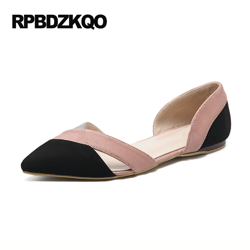 Suede Unique Casual 2017 Sandals Pointed Toe Chinese Yellow Breathable Pink Ladies Beautiful Flats Shoes Slip On Women China 2017 new fashion women summer flats pointed toe pink ladies slip on sandals ballet flats retro shoes leather high quality