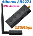 Atheros AR9271 150 150mbps Adaptador WiFi USB com 5DBi Antena Wi-fi Adaptador Ethernet Para Beini/ROS/Windows 7/8/10 Linux/Soft AP