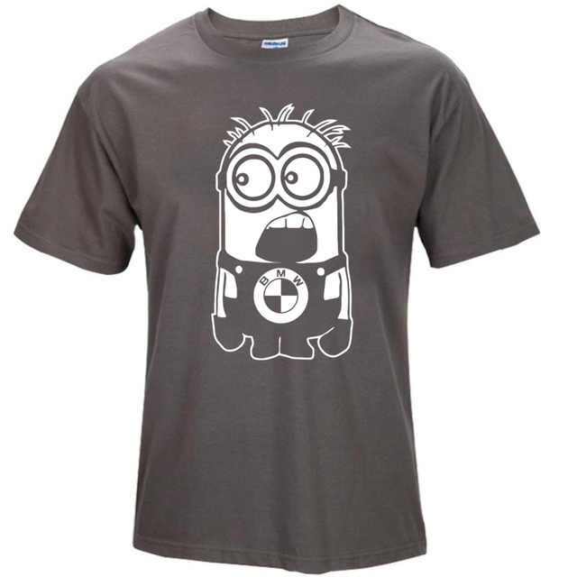 Despicable Me Minions BMW Skull Printed T-shirts for Men