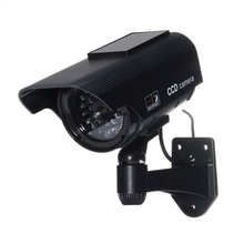 MOOL Fake Security Camera – Heavy Duty – Night Vision Look – Solar Power (Black)