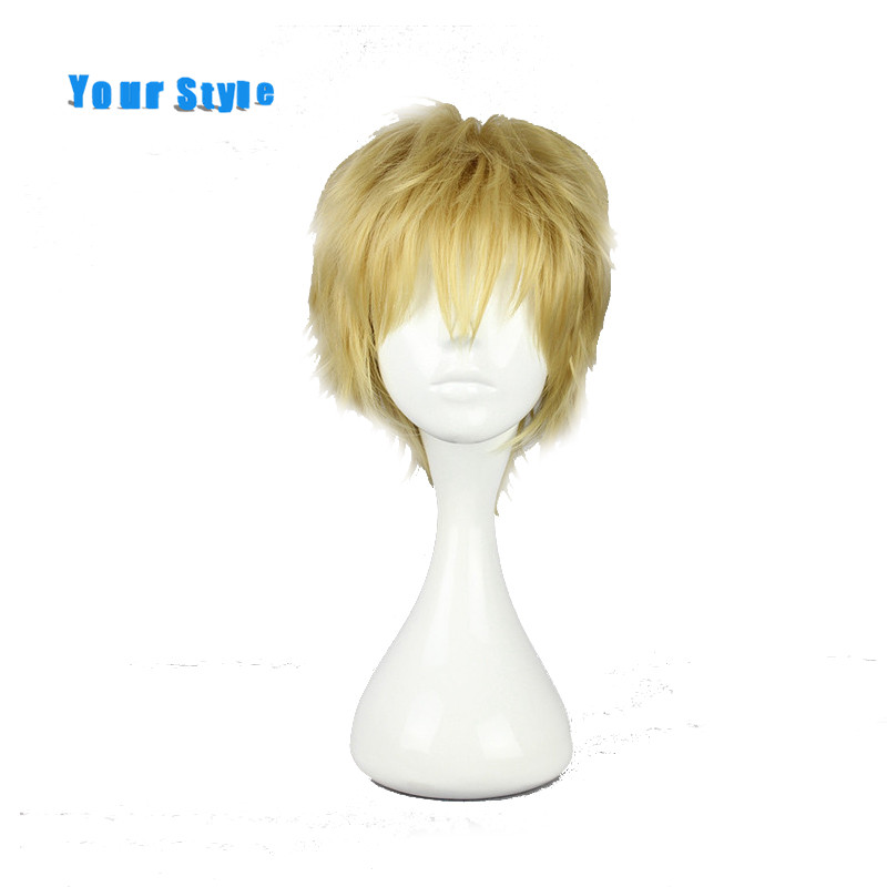 Your Style Short  Curly  Cosplay Wigs Male For Party Synthetic Fake Hair
