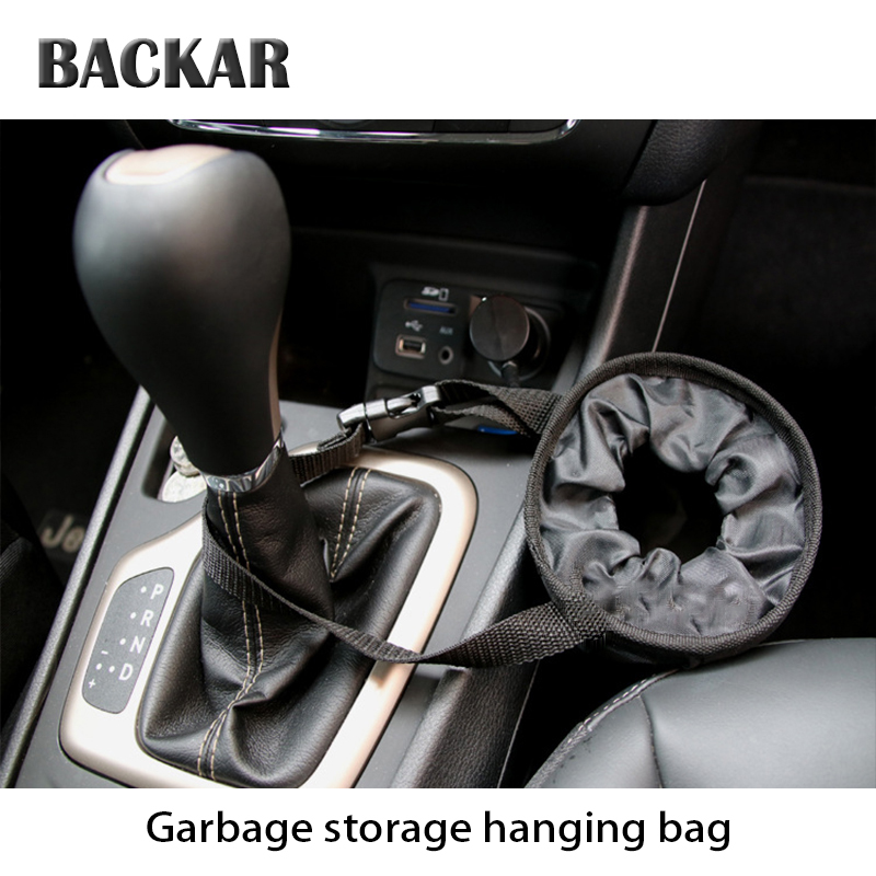 BACKAR Auto Garbage Storage Hanging Bag Car Trash Styling For Chevrolet Aveo Captiva Passat Abarth Volkswagen 4 5 7 Accessories exhaust tips on jaguar xe