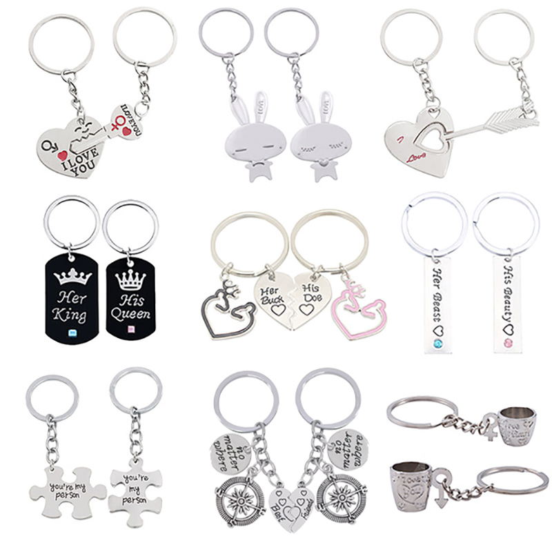 2 Pcs Puzzle Letter You're My Person Couple Keychain Lovers BBF Cute Key Ring Holder Love Heart Best Friends Gift Dropshipping image