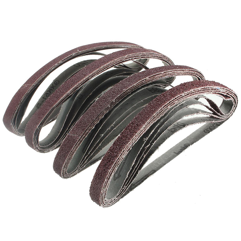 20pcs 13mm*457mm Sanding Belt 40-120Grit Mixed Powerfile Sanding Belts Sander Polishing Power Tool Mayitr