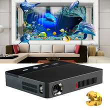NIERBO 3D Mini Projector DLP Portable Moive Projector 1080P Mini Android Slide Projector LAN WIFI HDMI Home Theater Business