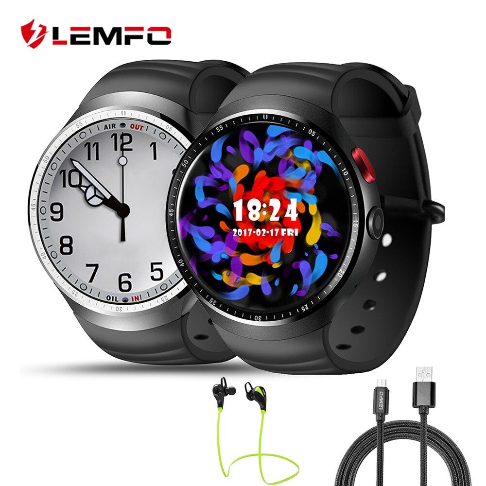 imágenes para LEMFO LES1 Smartwatch Android Teléfono RAM 1 GB + 16 GB de apoyo clima Pulsómetro GPS reloj Inteligente para Android IOS teléfono