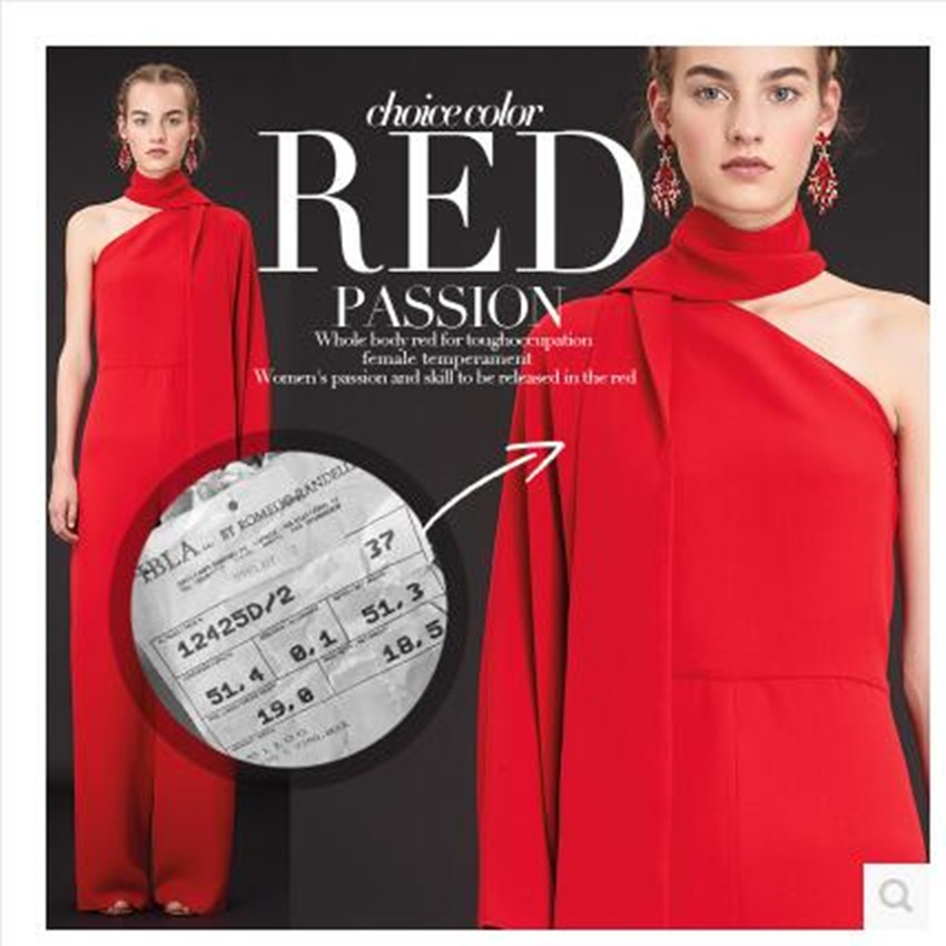 Wool twill fabric 100% Virgin Wool Valentino red 390grams per metre
